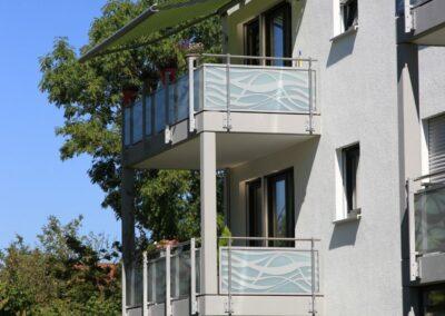 Duralin Leichtmetall GmbH Balkongeländer mit Glas